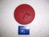 SEAT BELT BOLT COVER RED NOS GM