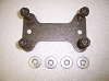 BUMPER MOUNT STUD PLATE W RETAINERS & NUTS USED