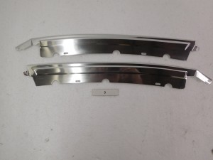 B-PILLAR TRIM WITH T-TOPS CHROME SET 81-88 MONTE CARLO