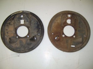 BRAKE BACKING PLATES USED