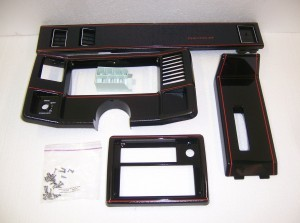 DASH / CONSOLE TRIM PACKAGE RED/BLACK CHROME GM RESTORATION
