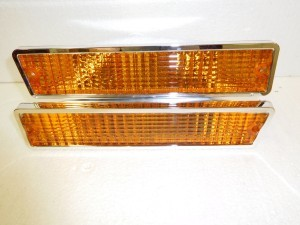 FRONT PARK / TURN SIGNAL LENS AMBER SET  81-88 CUTLASS