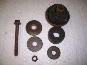 RADIATOR SUPPORT MOUNT SET USED