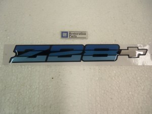 REAR BUMPER EMBLEM 86-87 CAMARO Z28 Blue Metallic