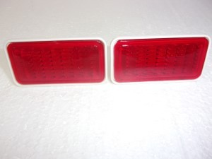 FRONT / REAR SIDE MARKER LENS 2 RED 68-69 NOVA