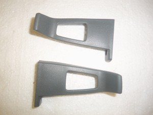 SEAT BELT GUIDES BUCKET SEATS GRAY 78-87 A/G BODY