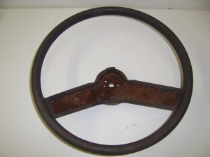 STEERING WHEEL  USED 86-87 GRAY
